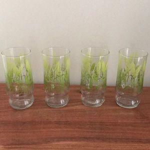 VINTAGE set of 4 wheat glasses boho retro